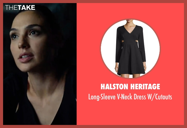 Halston Heritage  black w/cutouts from Justice League seen with Gal Gadot (Diana Prince / Wonder Woman)