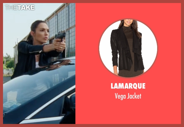 Lamarque black jacket from Keeping Up with the Joneses seen with Gal Gadot (Natalie Jones)