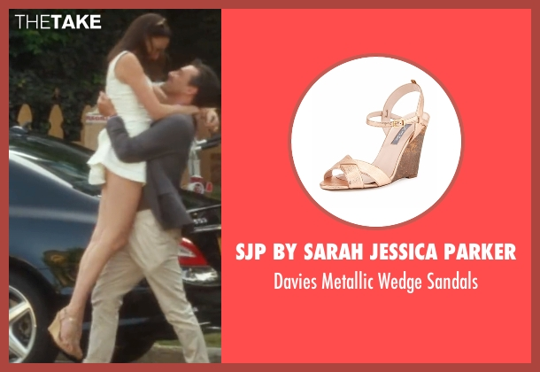 SJP by Sarah Jessica Parker brown sandals from Keeping Up with the Joneses seen with Gal Gadot (Natalie Jones)