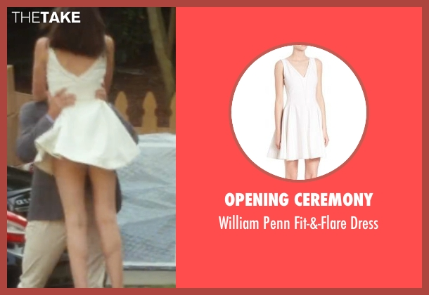 Opening Ceremony white dress from Keeping Up with the Joneses seen with Gal Gadot (Natalie Jones)