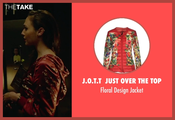 J.O.T.T  Just Over The Top red jacket from Triple 9 seen with Gal Gadot (Petra Vaslov)