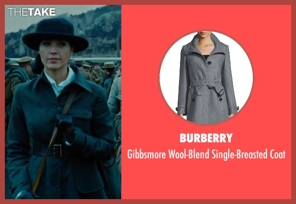 Burberry gray coat from Wonder Woman seen with Gal Gadot (Diana Prince / Wonder Woman)