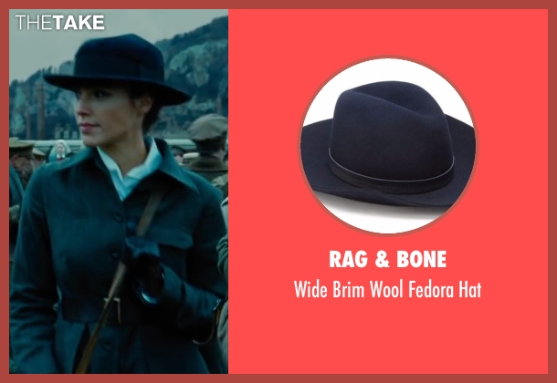 Rag & Bone blue hat from Wonder Woman seen with Gal Gadot (Diana Prince / Wonder Woman)