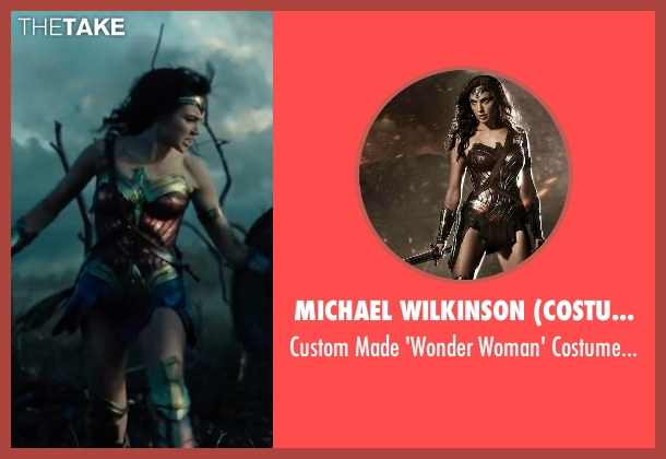 Lindy Hemming (Costume Designer) costume from Wonder Woman seen with Gal Gadot (Diana Prince / Wonder Woman)