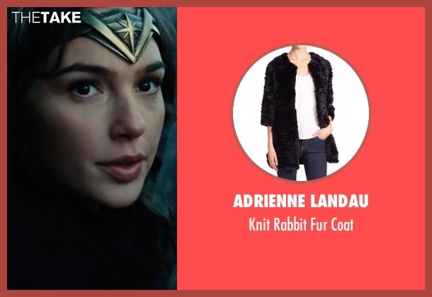 Adrienne Landau black coat from Wonder Woman seen with Gal Gadot (Diana Prince / Wonder Woman)