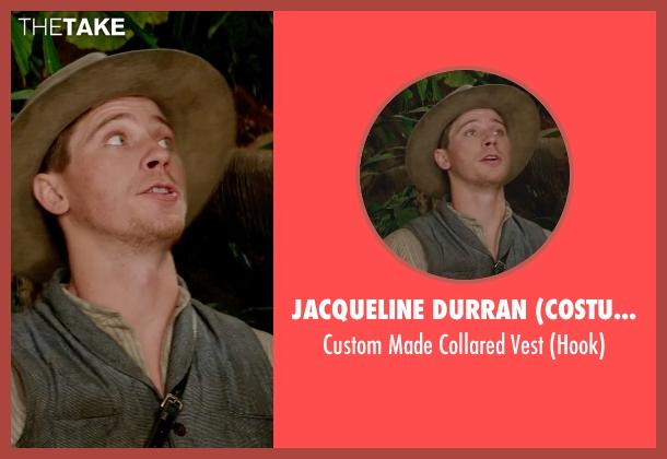 Jacqueline Durran (Costume Designer) black vest from Pan seen with Garrett Hedlund (Hook)