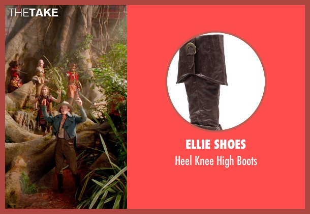 Ellie Shoes brown boots from Pan seen with Garrett Hedlund (Hook)