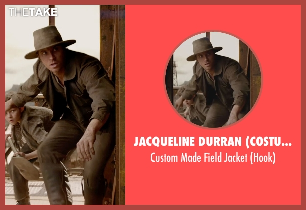 Jacqueline Durran (Costume Designer) brown jacket from Pan seen with Garrett Hedlund (Hook)