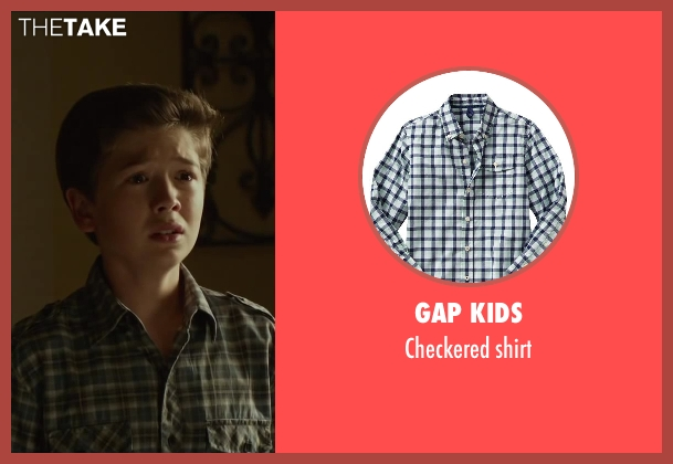 Gap Kids green shirt from Oculus seen with Garrett Ryan (Young Tim Russell)