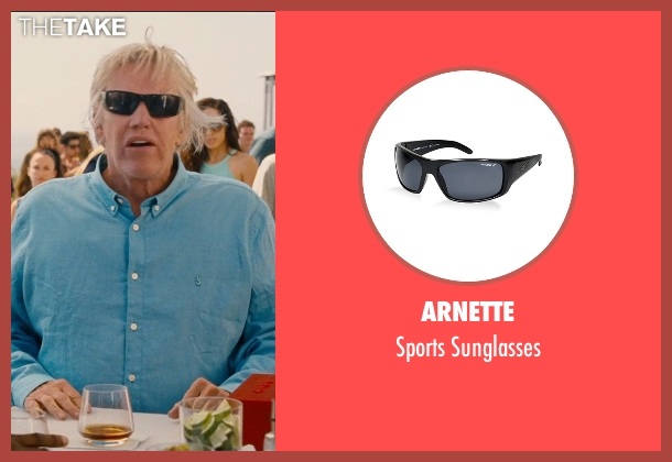 Arnette black sunglasses from Entourage seen with Gary Busey (Gary)