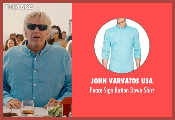John Varvatos USA blue shirt from Entourage seen with Gary Busey (Gary)