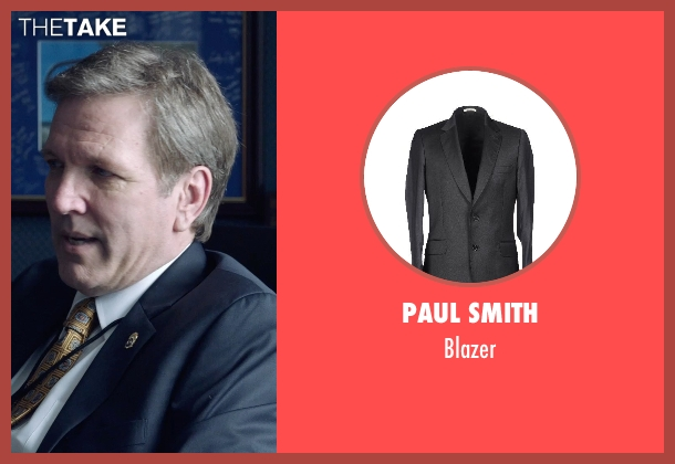 PAUL SMITH gray blazer from Sabotage seen with Gary Grubbs (Lou Cantrell (DEA Interrogator #2))