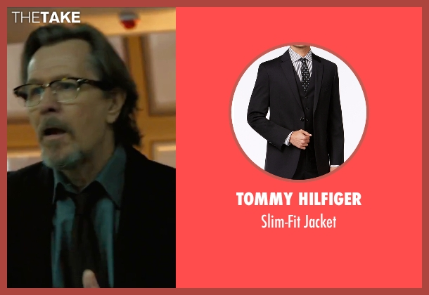 Tommy Hilfiger black jacket from Criminal seen with Gary Oldman (Unknown Character)