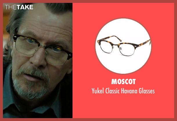 Moscot brown glasses from Criminal seen with Gary Oldman (Unknown Character)