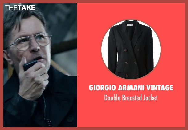 GIORGIO ARMANI VINTAGE black jacket from Dawn of the Planet of the Apes seen with Gary Oldman (Dreyfus)