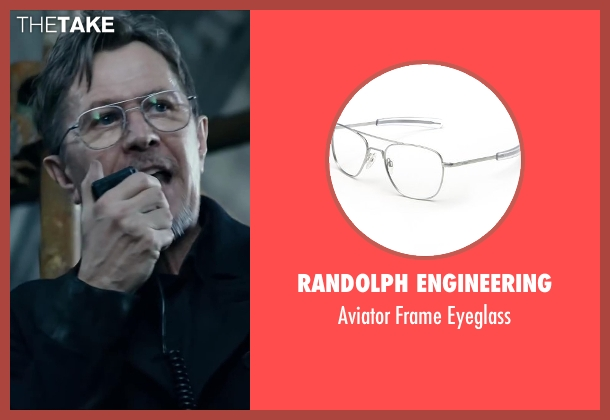 Randolph Engineering silver eyeglass from Dawn of the Planet of the Apes seen with Gary Oldman (Dreyfus)
