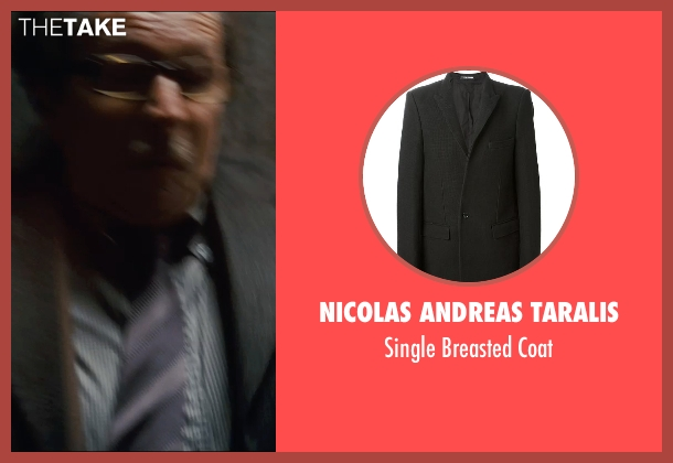 Nicolas Andreas Taralis black coat from The Dark Knight Rises seen with Gary Oldman (Commissioner Gordon)