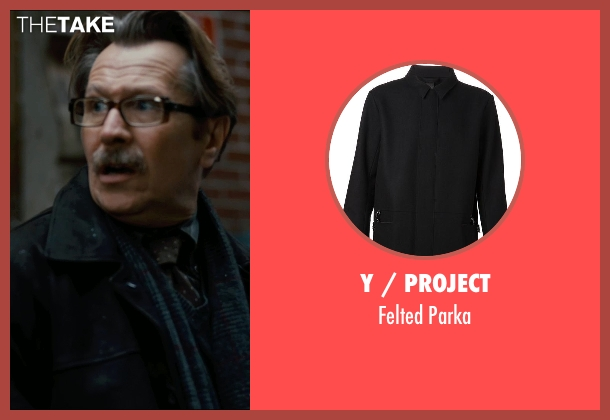 Y / Project black parka from The Dark Knight Rises seen with Gary Oldman (Commissioner Gordon)