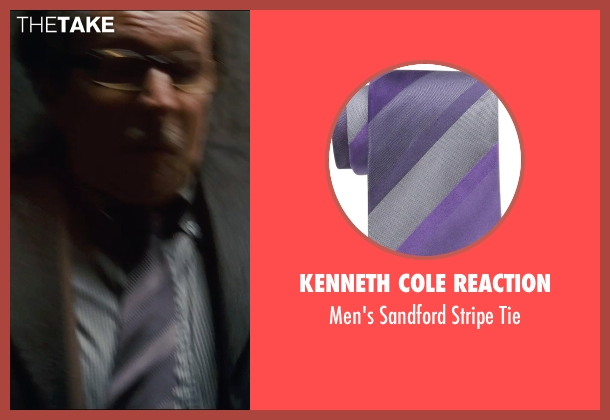 Kenneth Cole Reaction purple tie from The Dark Knight Rises seen with Gary Oldman (Commissioner Gordon)