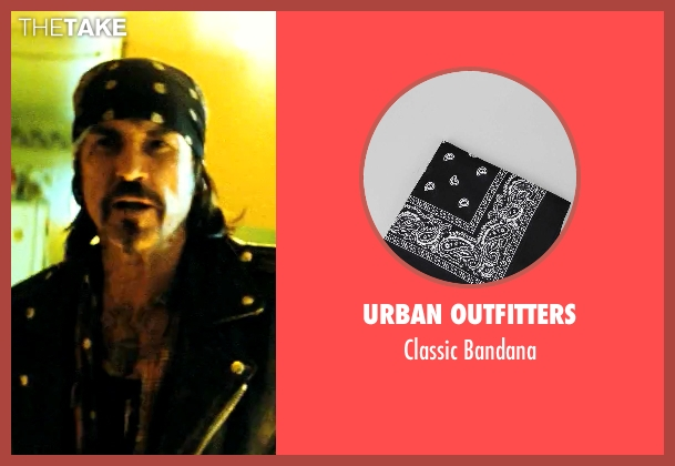 Urban Outfitters black bandana from Savages seen with Gary Stretch (Bad Ass Biker)