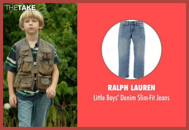 Ralph Lauren blue jeans from Me and Earl and the Dying Girl seen with Gavin Dietz (Young Greg Gaines)