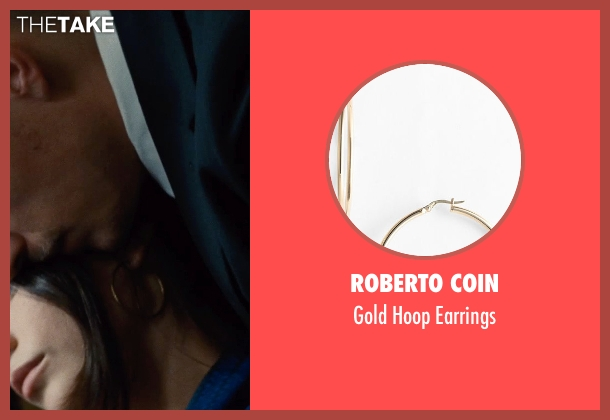 Roberto Coin gold earrings from Run All Night seen with Genesis Rodriguez (Gabrielle)