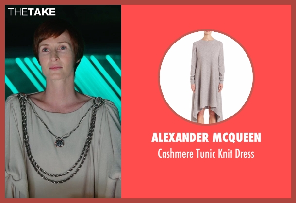 Alexander McQueen white dress from Rogue One: A Star Wars Story seen with Genevieve O'Reilly (Mon Mothma)