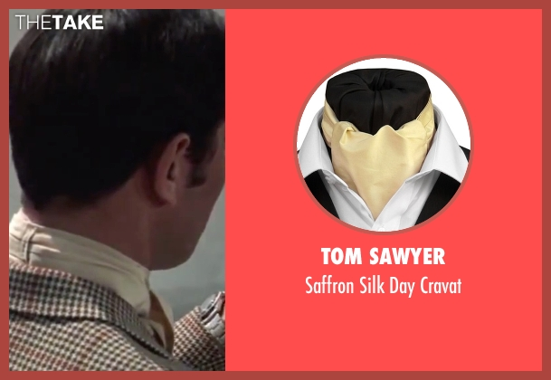Tom Sawyer beige cravat from On Her Majesty's Secret Service seen with George Lazenby (James Bond)