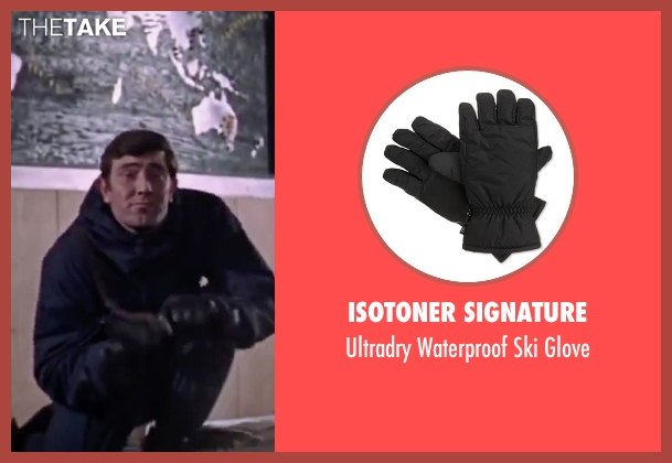 Isotoner Signature black glove from On Her Majesty's Secret Service seen with George Lazenby (James Bond)