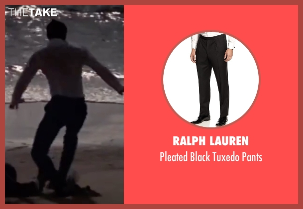 Ralph Lauren black pants from On Her Majesty's Secret Service seen with George Lazenby (James Bond)