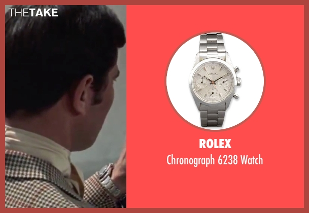 Rolex silver watch from On Her Majesty's Secret Service seen with George Lazenby (James Bond)