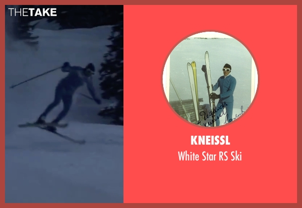 Kneissl ski from On Her Majesty's Secret Service seen with George Lazenby (James Bond)
