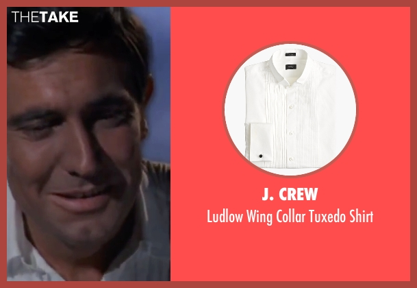 J. Crew white shirt from On Her Majesty's Secret Service seen with George Lazenby (James Bond)