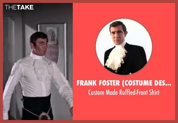 Frank Foster (Costume Designer) white shirt from On Her Majesty's Secret Service seen with George Lazenby (James Bond)