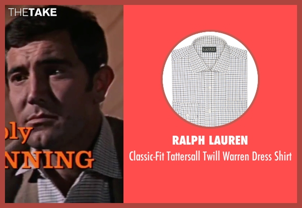 Ralph Lauren white shirt from On Her Majesty's Secret Service seen with George Lazenby (James Bond)