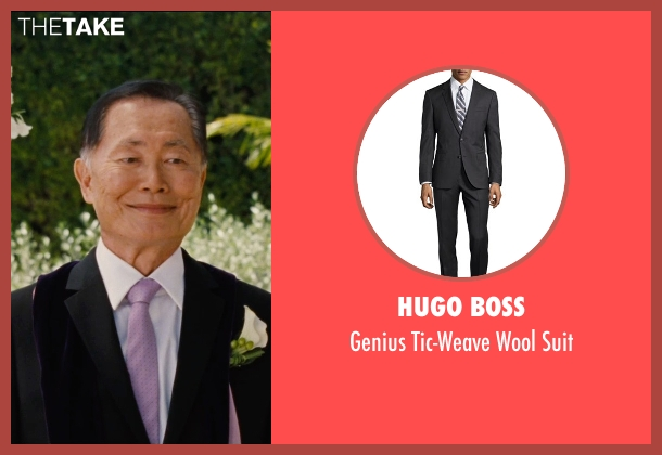 Hugo Boss black suit from Entourage seen with George Takei (Unknown Character)