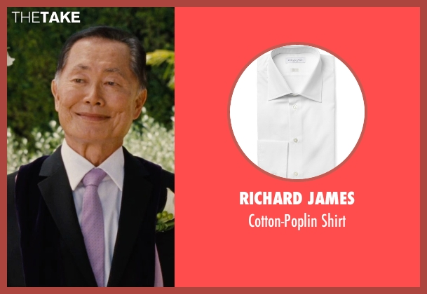 Richard James white shirt from Entourage seen with George Takei (Unknown Character)