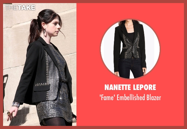 Nanette Lepore black blazer from Gossip Girl seen with Georgina Sparks (Michelle Trachtenberg)