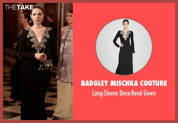 Badgley Mischka Couture black gown from Gossip Girl seen with Georgina Sparks (Michelle Trachtenberg)