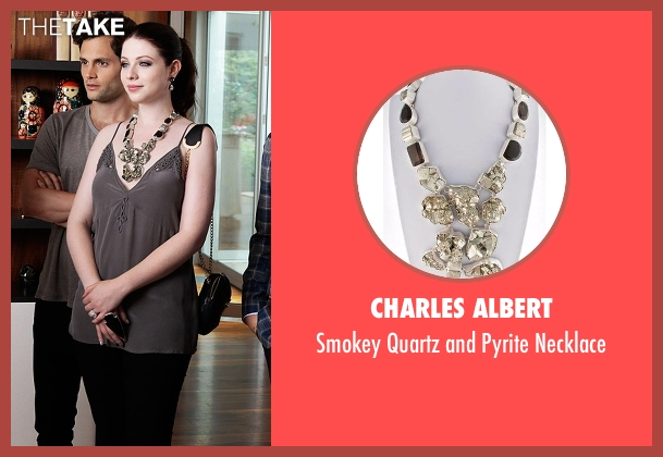 Charles Albert black necklace from Gossip Girl seen with Georgina Sparks (Michelle Trachtenberg)