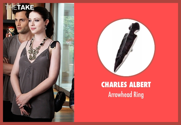 Charles Albert black ring from Gossip Girl seen with Georgina Sparks (Michelle Trachtenberg)