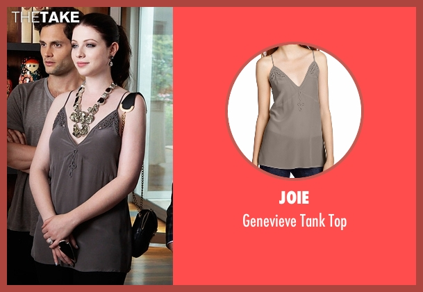 Joie gray top from Gossip Girl seen with Georgina Sparks (Michelle Trachtenberg)