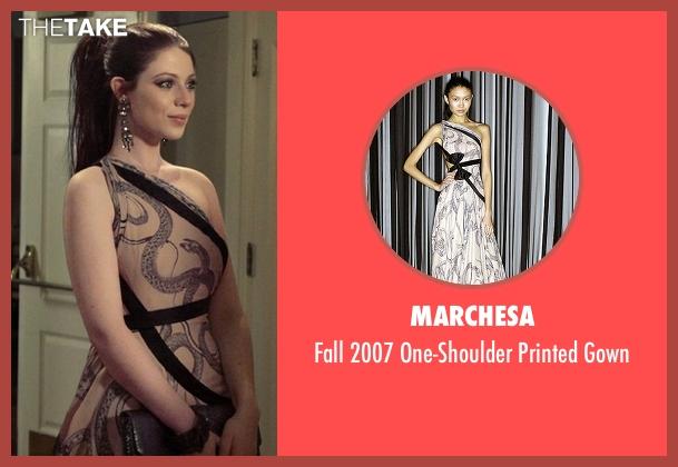 Marchesa  pink gown from Gossip Girl seen with Georgina Sparks (Michelle Trachtenberg)