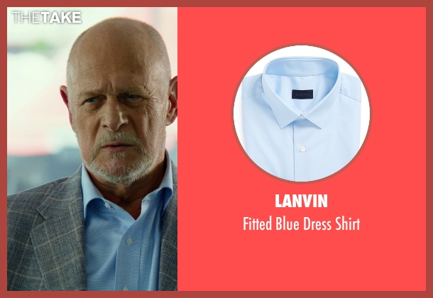 Lanvin blue shirt from Focus seen with Gerald McRaney (Ownes)