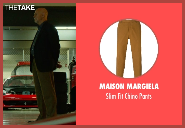 Maison Margiela brown pants from Focus seen with Gerald McRaney (Ownes)