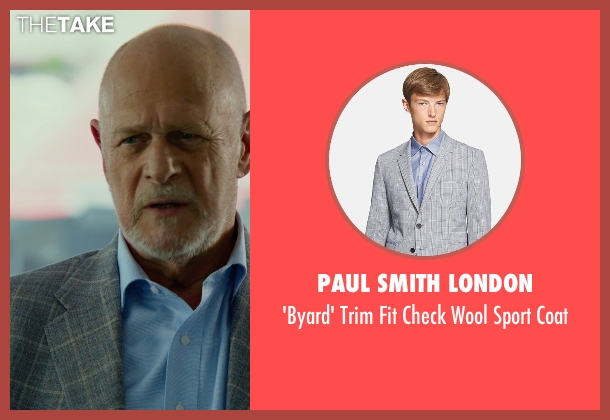 Paul Smith London gray coat from Focus seen with Gerald McRaney (Ownes)