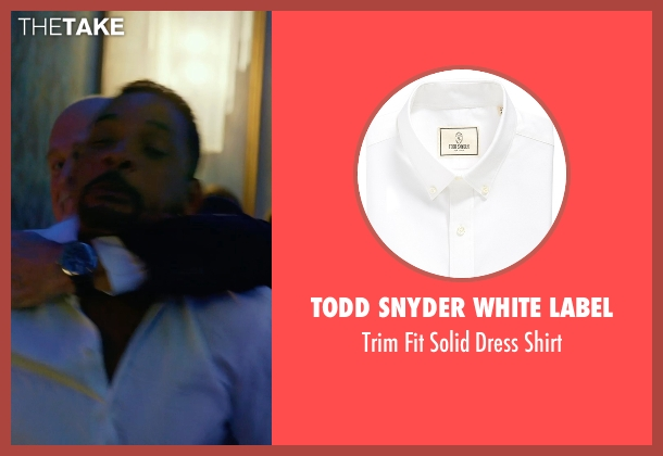 Todd Snyder White Label white shirt from Focus seen with Gerald McRaney (Ownes)