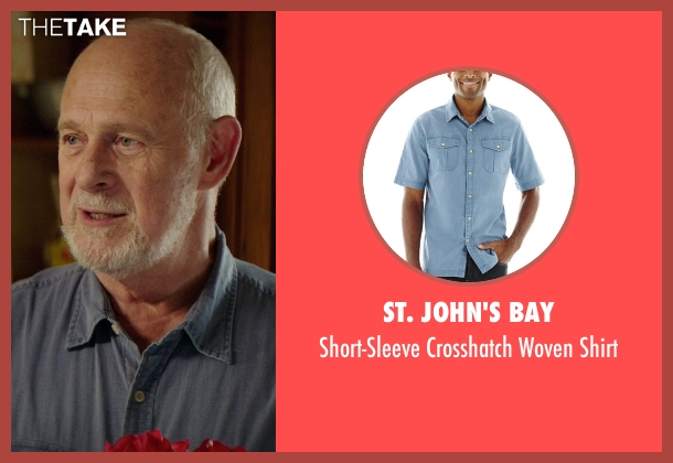 St. John's Bay blue shirt from The Best of Me seen with Gerald McRaney (Tuck)