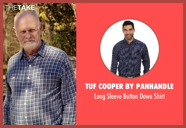 Tuf Cooper by Panhandle blue shirt from The Best of Me seen with Gerald McRaney (Tuck)