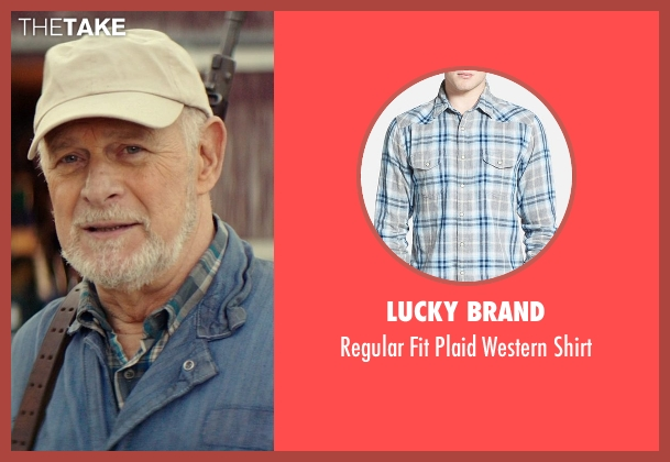 Lucky Brand blue shirt from The Best of Me seen with Gerald McRaney (Tuck)